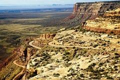 沙漠之字形路线 库存图片