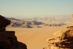 沙漠乔丹兰姆酒旱谷 库存照片