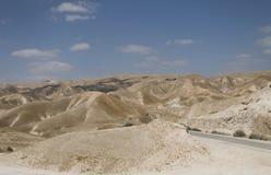 沙漠以色列的山风景 库存图片