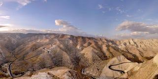 沙漠以色列judea山 库存图片