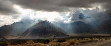沙漠光线 免版税库存图片