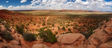 沙漠全景 免版税图库摄影
