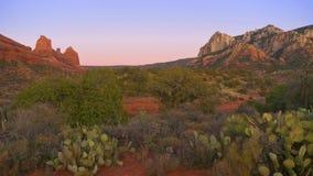 沙漠全景sedona 库存图片