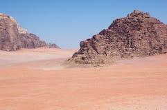 沙漠兰姆酒旱谷 免版税库存图片