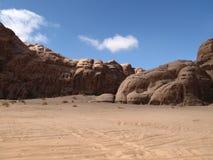 沙漠兰姆酒旱谷 库存照片