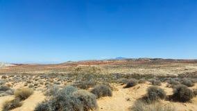 沙漠内华达 库存照片