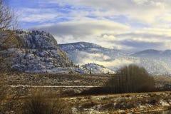 沙漠冬天 库存照片
