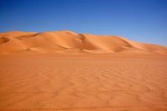 沙漠利比亚撒哈拉大沙漠沙子海运ubari 免版税图库摄影