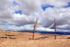 沙漠和云彩 库存图片
