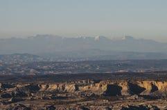 沙漠和山景 免版税图库摄影
