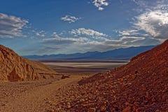 沙漠和山环境美化,死亡谷,加利福尼亚 免版税库存照片