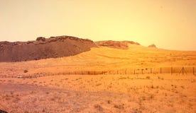 沙漠和山风景 库存照片