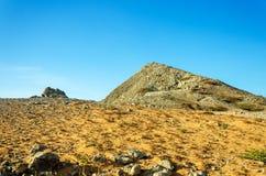 沙漠和岩石小山 图库摄影