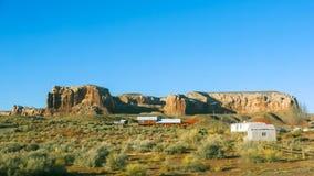 沙漠国家边农场 免版税库存图片