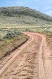 沙漠土路 免版税库存图片