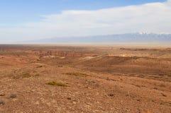 沙漠在卡扎克斯坦 免版税库存照片