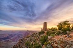 沙漠在大峡谷的视图城楼 免版税库存照片