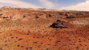 沙漠在犹他,美国 风景的横向 自然,地质,犹他的环境 看法从上面,鸟瞰图,寄生虫射击 股票视频