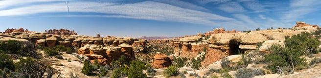 沙漠在美国西南的峡谷风景 库存照片