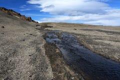 沙漠在阿斯恰火山地区 免版税图库摄影