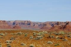 沙漠场面,犹他 免版税图库摄影