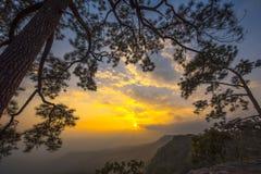 沙漠埃及山日落 库存照片
