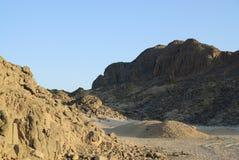 沙漠埃及岩石 免版税库存照片