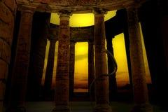 沙漠城堡的废墟 免版税库存图片