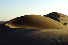 沙漠夜间 库存图片