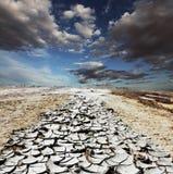 沙漠天旱 免版税库存图片
