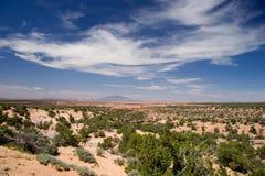 沙漠天空,纳瓦霍族保留地,东北亚利桑那 免版税库存照片