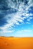 沙漠天空 免版税库存图片