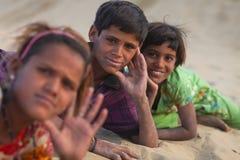 沙漠孩子 库存照片