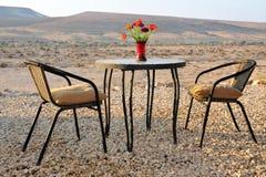 沙漠小屋在以色列 免版税库存照片