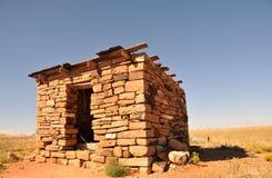 沙漠小屋石头 免版税图库摄影
