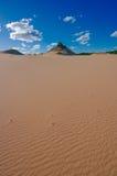 沙漠小山红色 库存图片