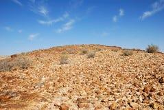 沙漠小山 免版税库存照片