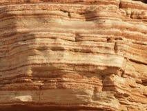 沙漠层岩石纹理 免版税库存图片
