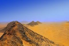 沙漠山沙子黄色 免版税库存照片