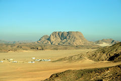 沙漠山白色 库存照片