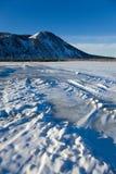 沙漠山雪 库存照片