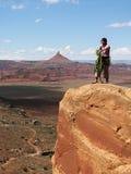 沙漠山顶 免版税库存图片