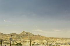 沙漠山风景在埃尔帕索 免版税库存图片