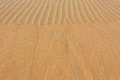 沙漠山崩沙子纹理 免版税库存照片