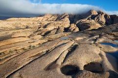 沙漠山Bektau-Ata在哈萨克斯坦 免版税库存图片