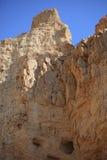 沙漠岩石山在Ein Gedi,以色列 库存图片