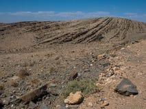 沙漠岩石山纹理landsca的美好的衬里样式 免版税库存图片
