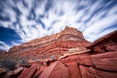 沙漠峭壁在犹他 库存图片