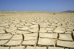 沙漠干燥红色区域海运 库存图片