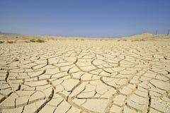 沙漠干燥红色区域海运 免版税库存照片